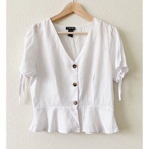 Timing White Short Sleeve Top